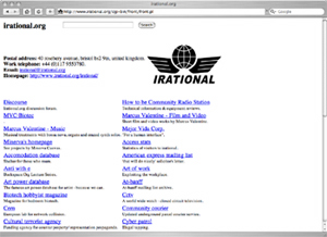 irational.org homepage